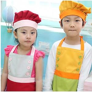 어린이쉐프가운 (모자+앞치마)