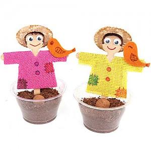 밀짚모자 허수아비와 식물키우기 10개