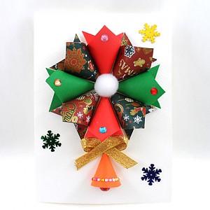 종이접기 원리스장식카드 10개