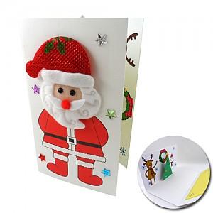 산타와 트리팝업카드 10개