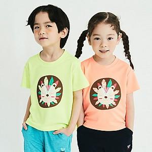인디언사자 반팔 티셔츠